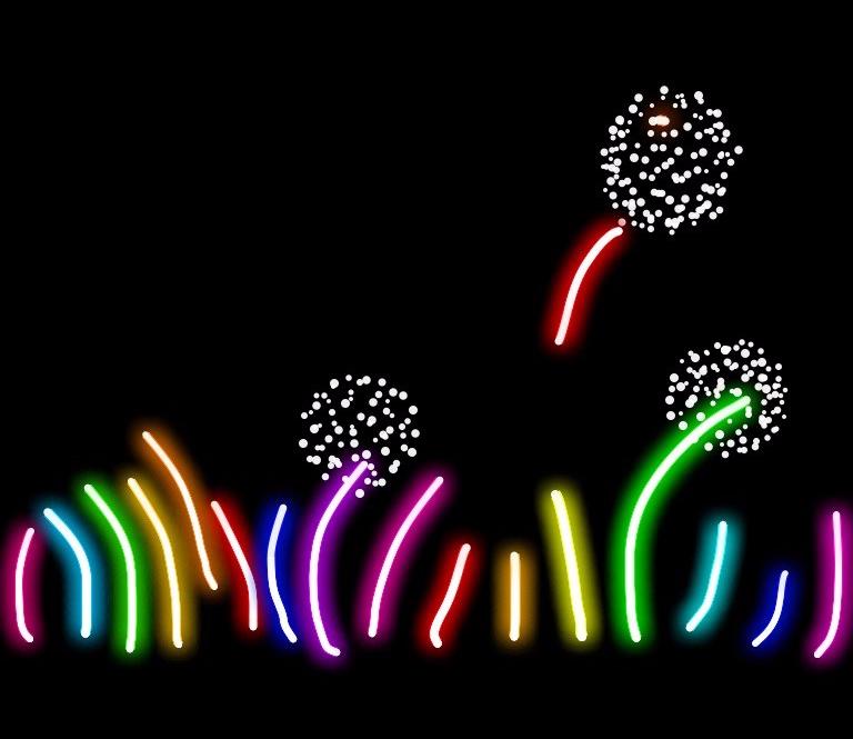 Luminous Fluoro Flowers