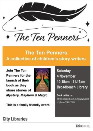 The Ten Penners Library Booklaunch Poster 4Nov2017