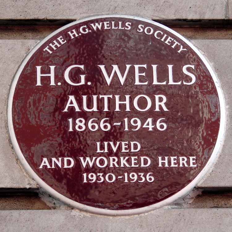 H G Wells House Plaque