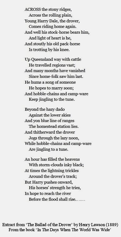 Henry Lawson Bush Poem