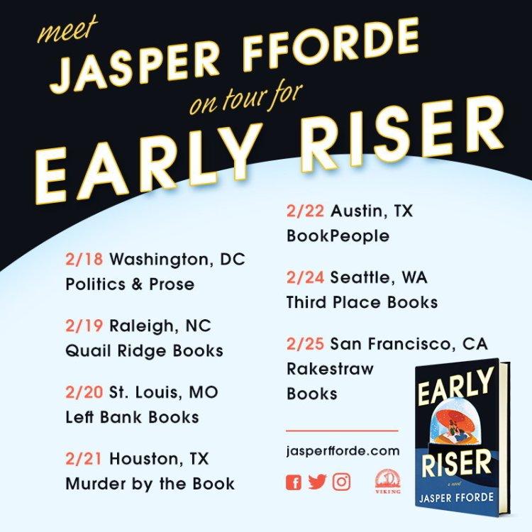 Early Riser Tour Jasper Fforde