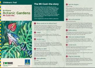 Mt Coot-tha Botanic Gardens Children's Trail Brochure