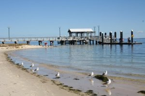 Bribie Island Jetty at Bongaree