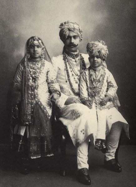 India Father and Children 1930s