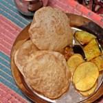 India Food Luchi Eggplant 01