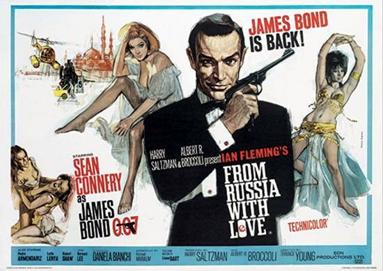 James Bond 007 Original 1964 Movie Poster