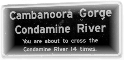 Condamine River Road Sign 02