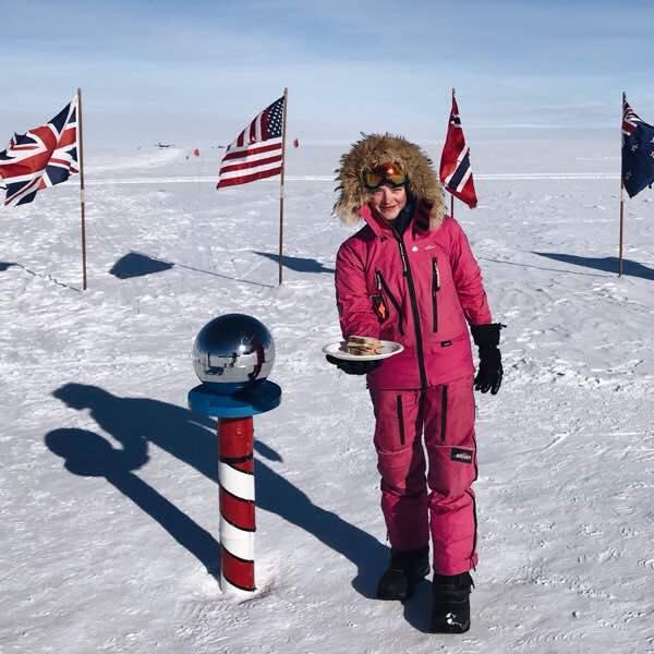 Jade Hameister Polar Skier and Sandwich